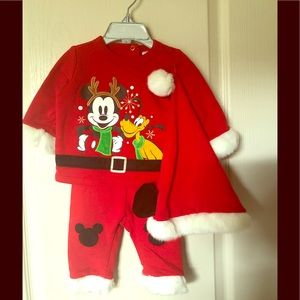 Disney Baby Christmas Outfit with Mickey and Pluto